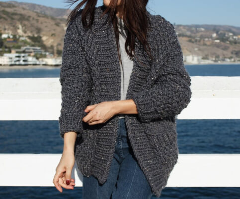 Cliffside Free Knitted Cardigan Pattern from Two of Wands