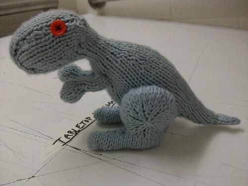 Dino the Dinosaur Free Dinosaur Knitting Pattern by Alyssa