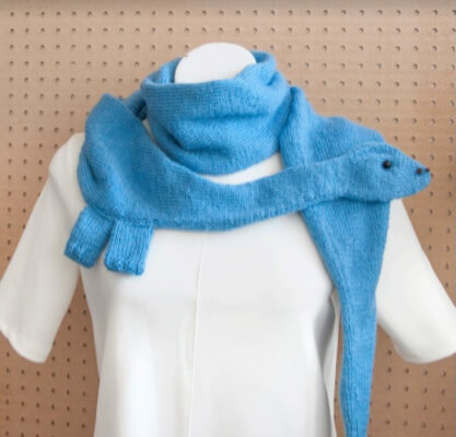 Diplodocus Scarf Free Dinosaur Knitting Pattern by Sincerely Louise
