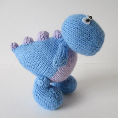 Dippy the Dinosaur Toy Knitting Pattern by fluffandfuzz