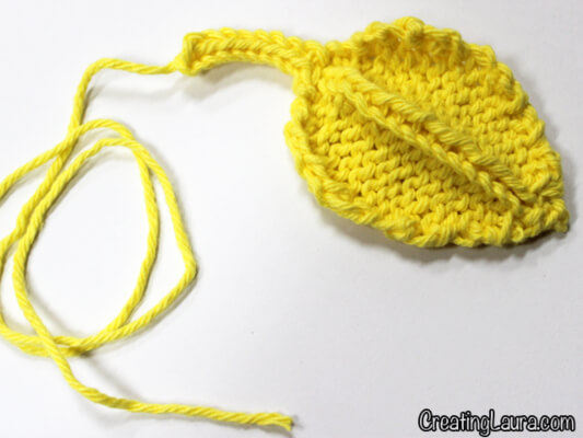 Knitted Leaf Pattern by Laura Doty from Creating Laurie
