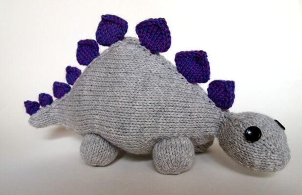 Knitting Dinosaur Jr. Pattern by Katie Boyette