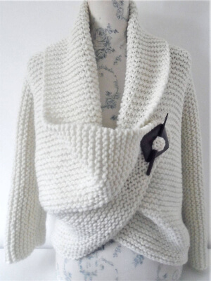 Knitting Pattern for Cardigan by TheDesignStudioKnits