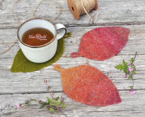 Leaf Knitting Pattern by Elvesworld
