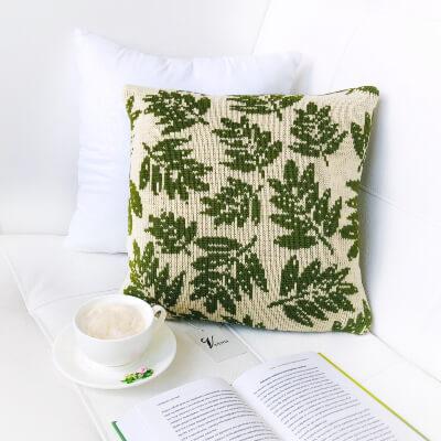 Oak Leaves Knit Pillowcase Pattern by Veriona