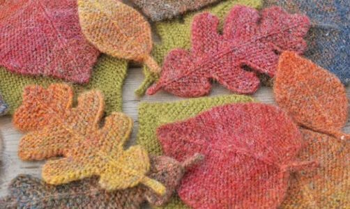 Oak Leaves Knitting Pattern by Elvesworld