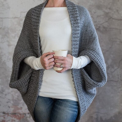 Scoop Sweater Knitted Cardigan Pattern by Broomefields
