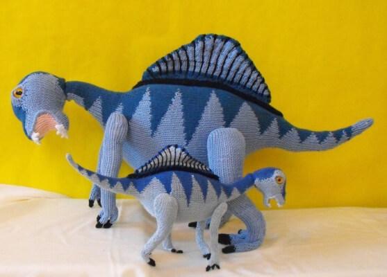 Spencer Spinosaurus and Baby Dinosaur Knitting Pattern by Madmonkeyknits