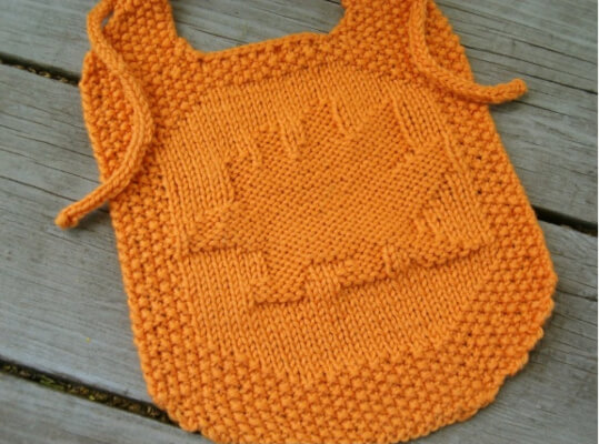 Steggie Bib Knitted Dinosaur Pattern by by Elaine Fitzpatrick