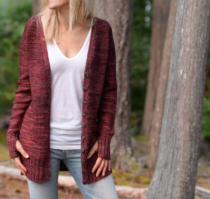The Memories Sweater Knitting Pattern for Cardigan from Thevelvetacorn