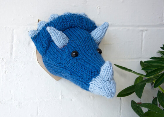 Triceratops Head Knitting Pattern by sincerelylouise
