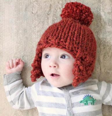 Ear Flap Newborn Knit Hat Pattern Free by Gina Michele