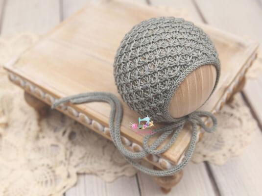 Jolie Bonnet Newborn Knitted Hat Pattern by CreamofheProp