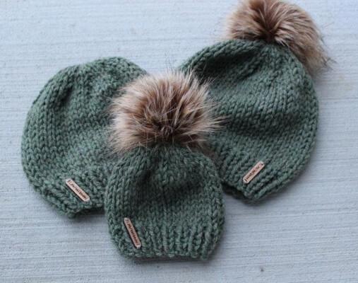 Knit Beanie Pattern by LittlePinkRibbons