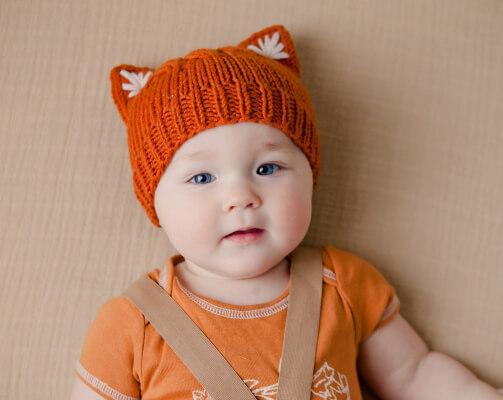 Simple Kitten or Fox Ears Beanie by Patternery