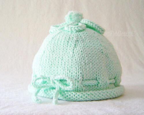 The TABITHA Newborn Baby Hat Knitting Pattern by Fiddlestyx Studios