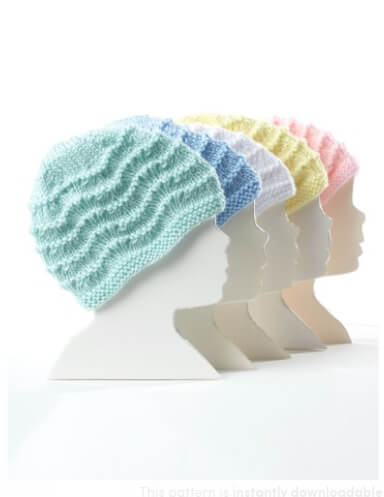 Wee Knit Cap in Caron Simply Soft Collection by Bernat