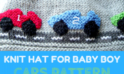 Racing Car Knit Hat For Baby Boy Pattern